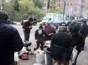 punks feeding the hungry at 9th and C