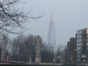 London Shard and cenotaphs