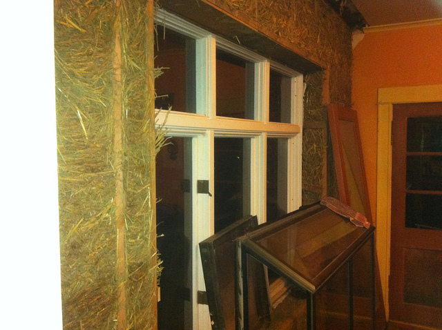 Straw Insulated Interior Wall